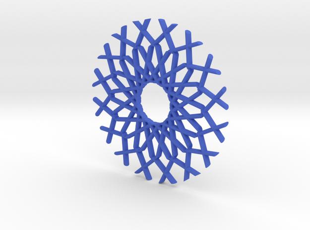Modern Snow in Blue Processed Versatile Plastic