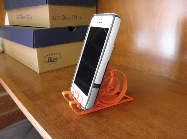 Cute Snail Phone Stand  in Orange Processed Versatile Plastic