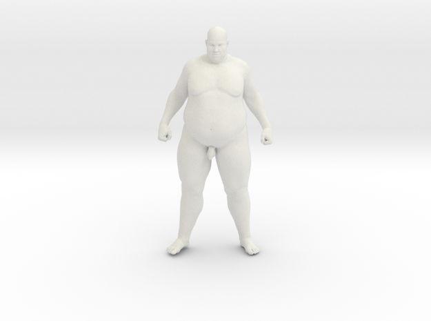 1/20 Fat Man 002 in White Natural Versatile Plastic