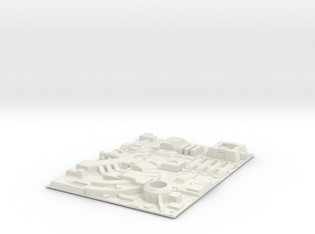 1/1000 Death Star Tiles in White Strong & Flexible