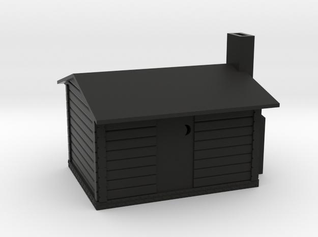 Log Cabin in Black Natural Versatile Plastic