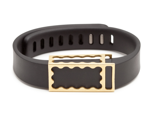 Chloe slide for Fitbit Flex in Raw Brass