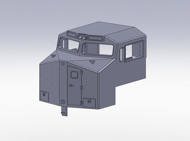 N Scale ND C9-40W cab in Smooth Fine Detail Plastic