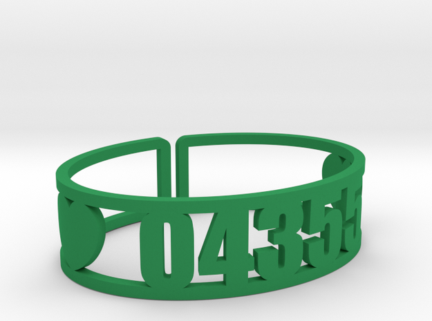 Laurel Zip Cuff in Green Processed Versatile Plastic