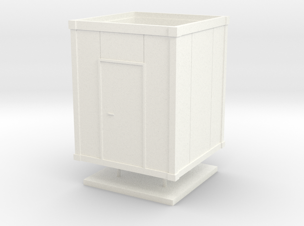 HO - Building Site Box - Small in White Strong & Flexible Polished
