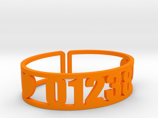 Lenox Zip Cuff in Orange Processed Versatile Plastic