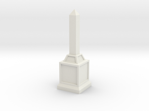 Obelisk of Victory in White Natural Versatile Plastic