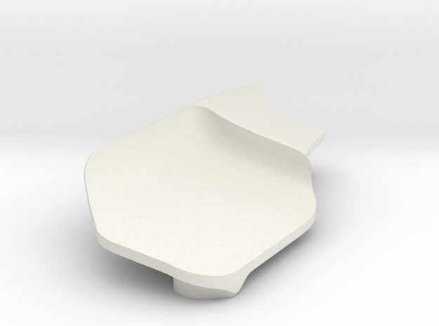 SX Fin for Xray Serpent CRC Front wing in White Natural Versatile Plastic
