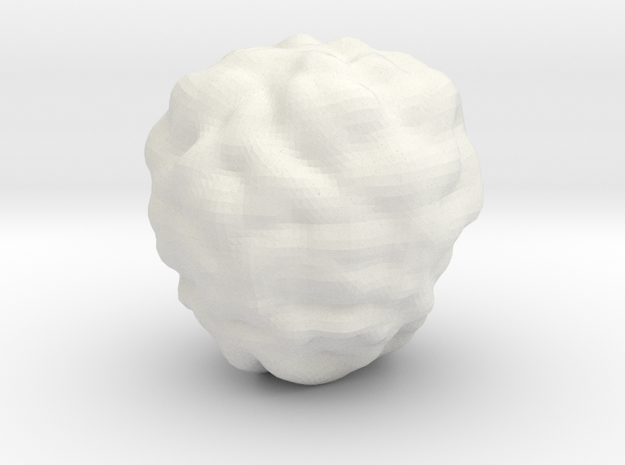 Fantasy Rock Asteroid in White Natural Versatile Plastic