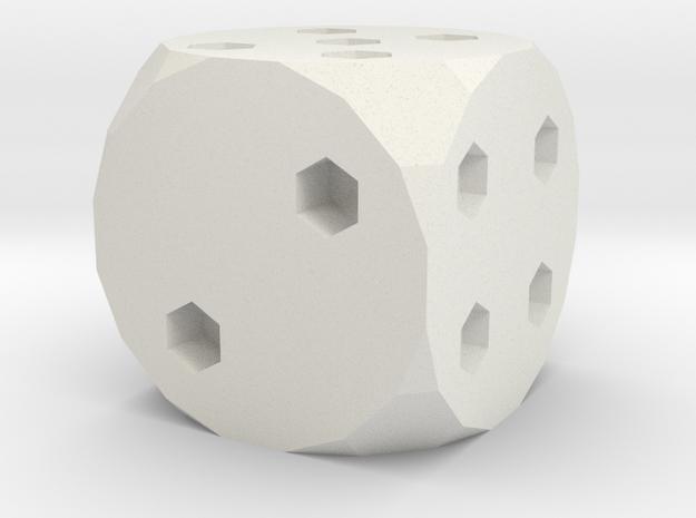 Classic Die 6 in White Natural Versatile Plastic