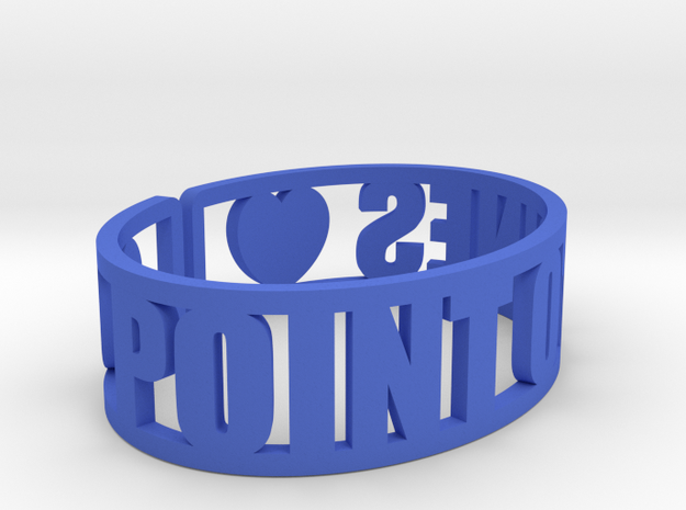 Point O'Pines Cuff in Blue Processed Versatile Plastic