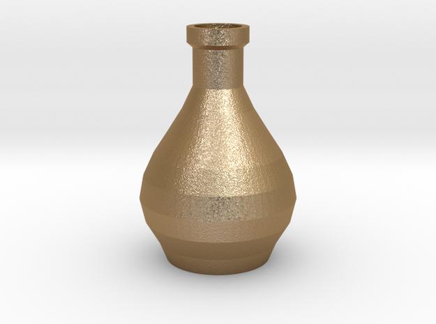 Decorative Design Jar in Matte Gold Steel