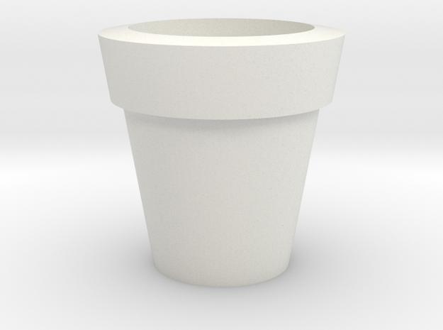 Design Plain Flower Pot in White Natural Versatile Plastic