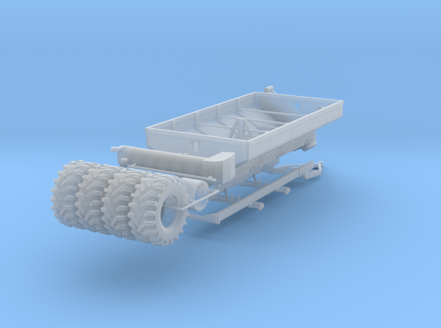 1/64 Grain Cart 2 axle with wheels and tires in Smooth Fine Detail Plastic