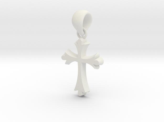 CBC Cross in White Natural Versatile Plastic