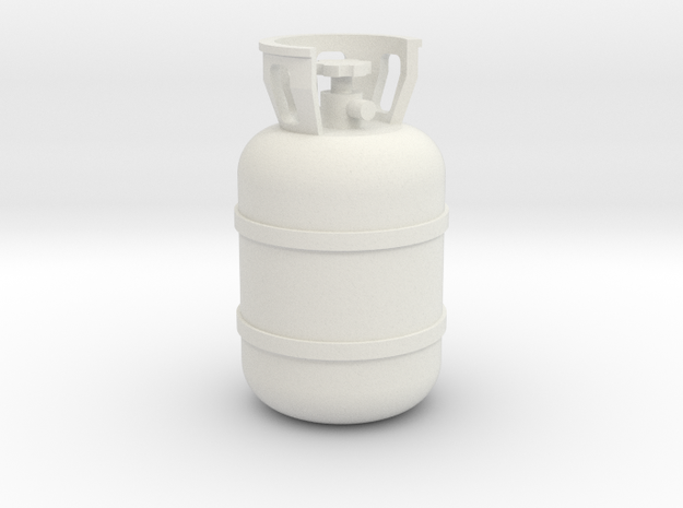 1/10 Scale propane tank in White Natural Versatile Plastic