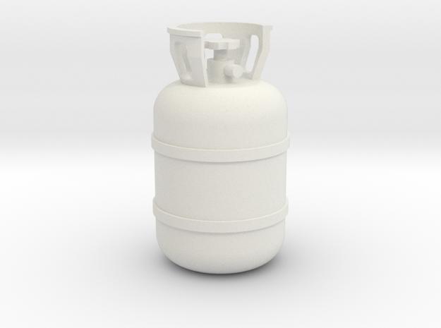 1/10 Scale propane tank in White Natural Versatile Plastic