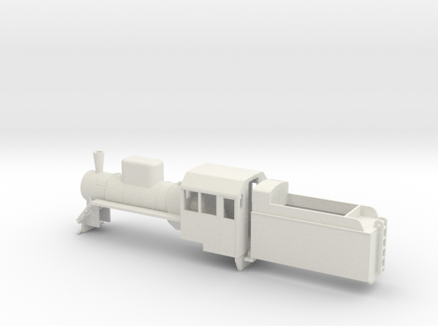 B-76-c2-loco-plus-tender-1a in White Strong & Flexible
