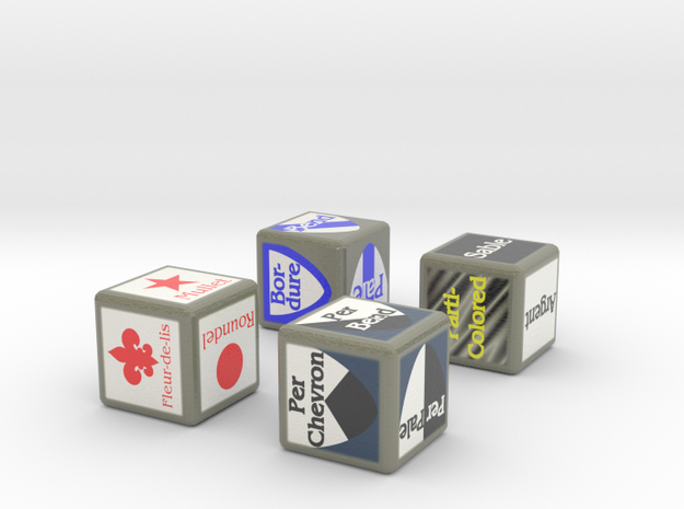 Complete Set of Blazonry Dice 3d printed