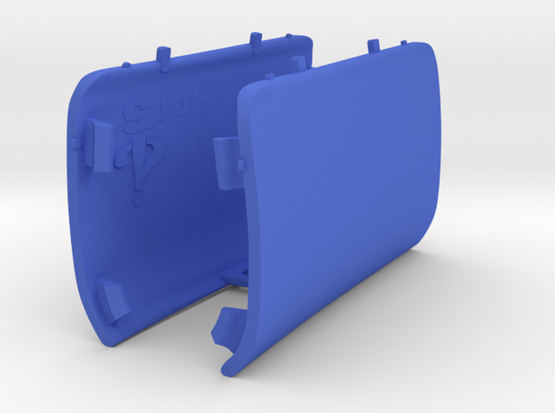 PAIR Rear Jack Point Covers Saab 9-3 Aero Viggen in Blue Processed Versatile Plastic