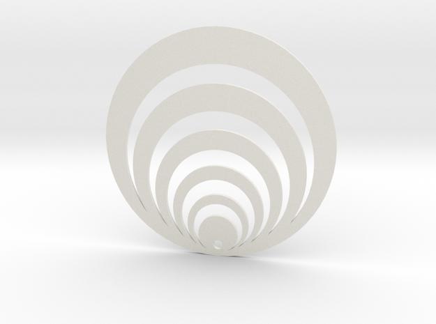 Oreille Illusion 3 in White Natural Versatile Plastic