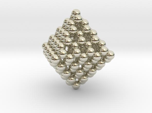 Diamond Octahedron Cage C130 in 14k White Gold