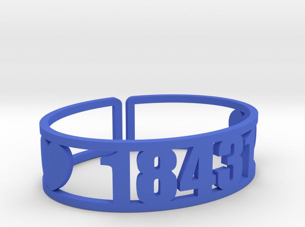 Towanda Zip Cuff in Blue Processed Versatile Plastic