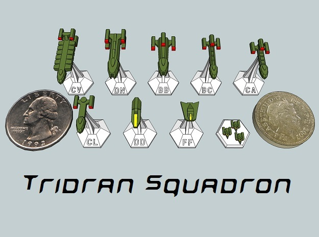 MicroFleet Tridran Sampler (9 Pcs) in Frosted Ultra Detail