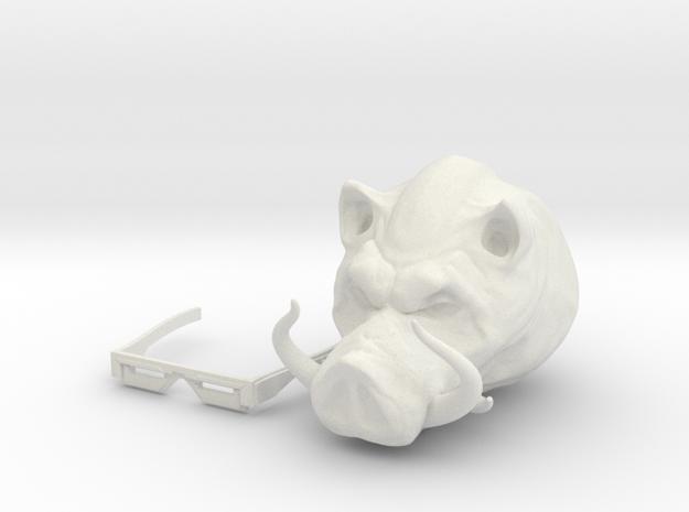 Punk Pig in White Natural Versatile Plastic