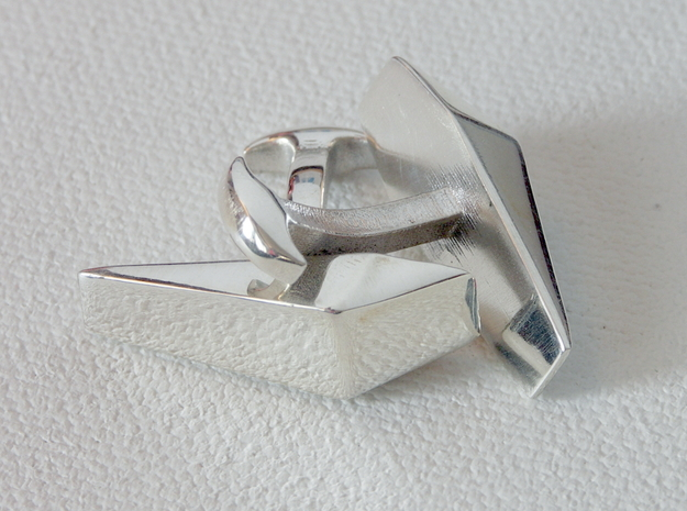 007 Cufflinks in Polished Silver