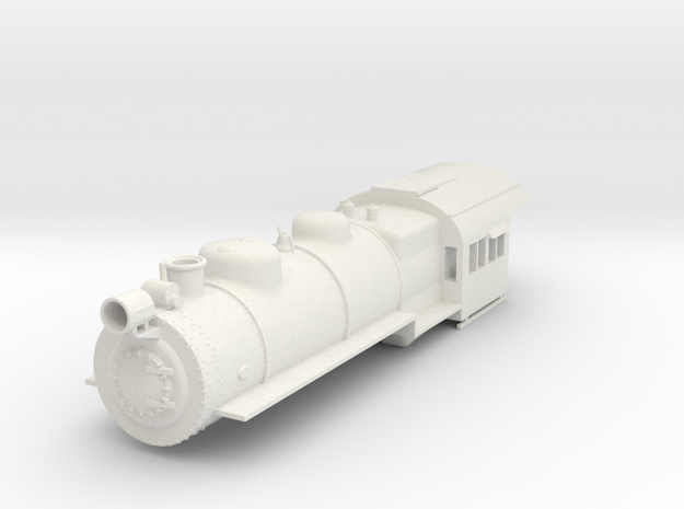 PRR H8/9/10 Boiler Shell S Scale in White Natural Versatile Plastic