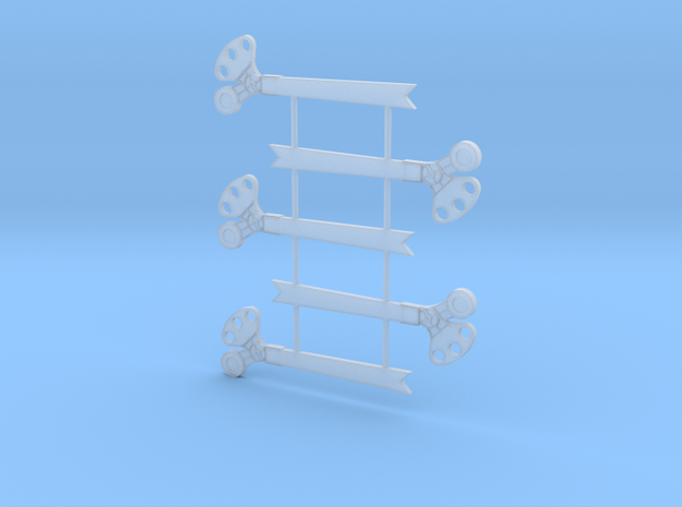 S Scale 3Pos. TO Semaphore Fishtail in Smooth Fine Detail Plastic