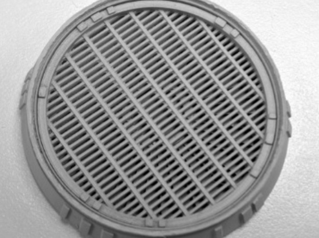 Exhaust Port with Grille for deAgostini Falcon in Smooth Fine Detail Plastic
