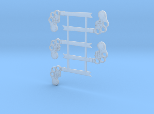 S Scale B&M TO Semaphore Fishtail in Smooth Fine Detail Plastic