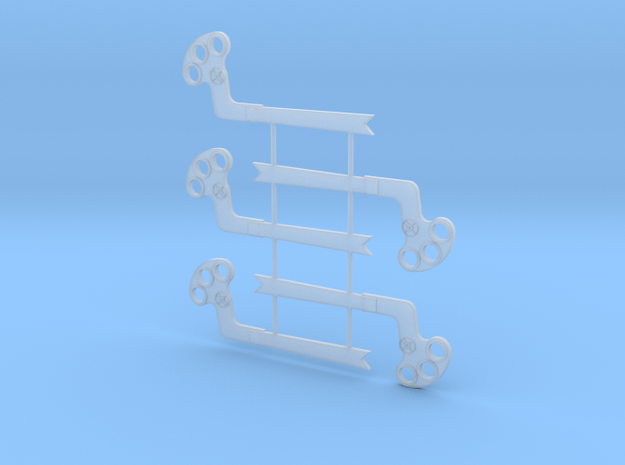 S Scale GRS B Semaphore Fishtail in Smooth Fine Detail Plastic