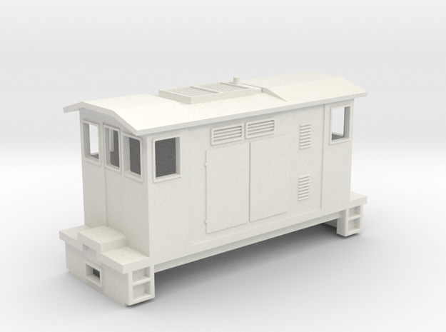 """HOn30 Boxcab Locomotive (""""Maud"""" V1) in White Strong & Flexible"""