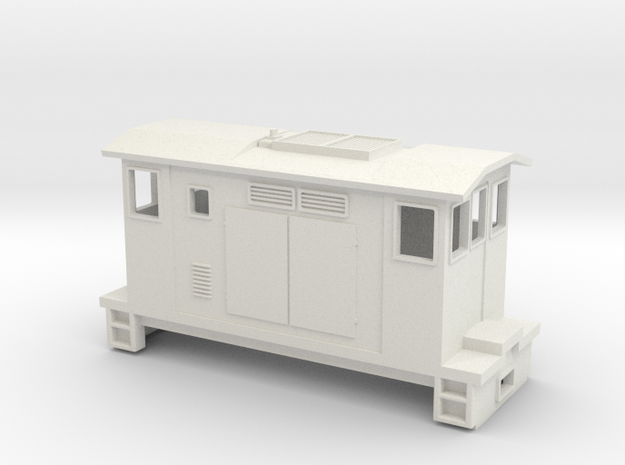 """HOn30 Boxcab Locomotive (""""Maud"""" V3) in White Strong & Flexible"""