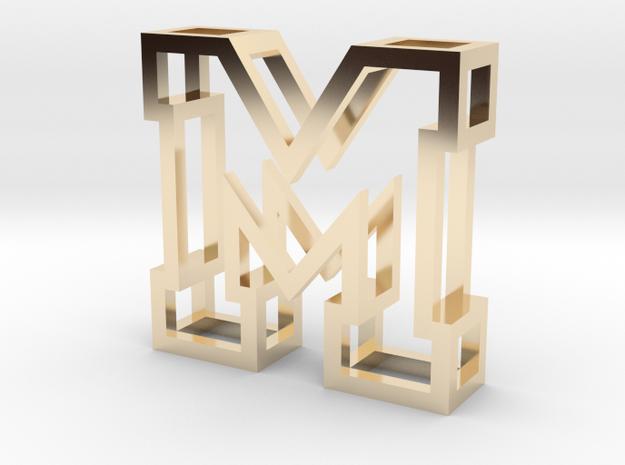 Small Letter M Pendant