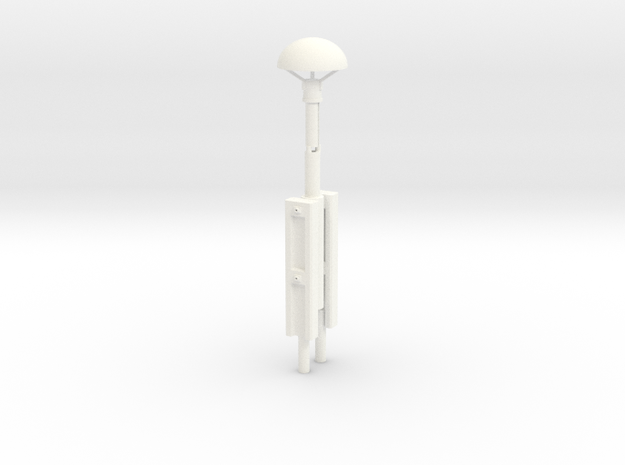Spur2   Pilzlampe  in White Strong & Flexible Polished