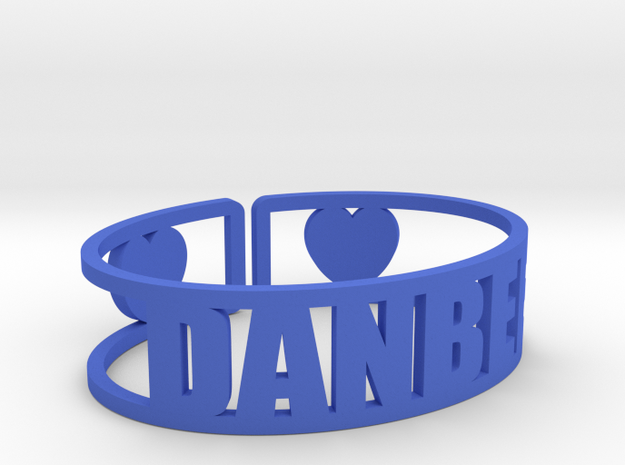 Danbee Cuff in Blue Strong & Flexible Polished
