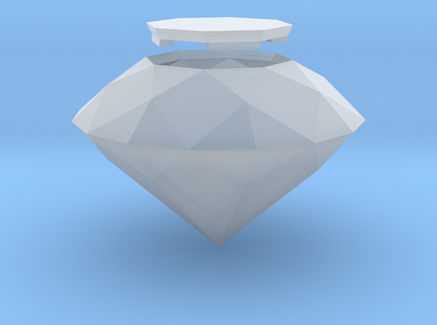 Diamond, Old Cut, hollow in Smooth Fine Detail Plastic