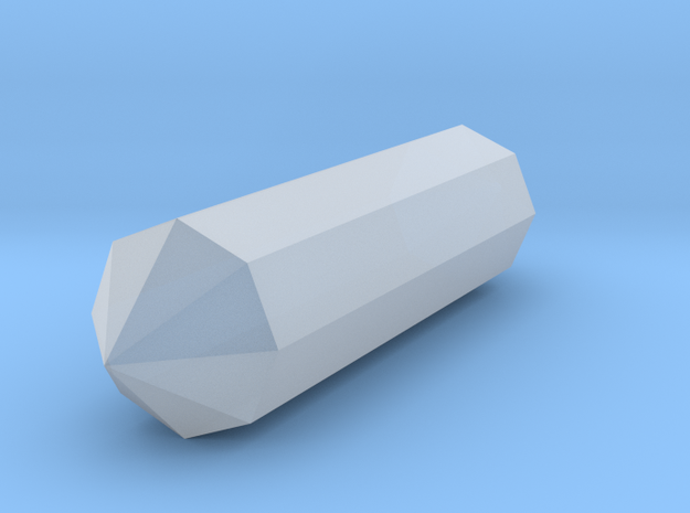 Long Crystal in Smooth Fine Detail Plastic