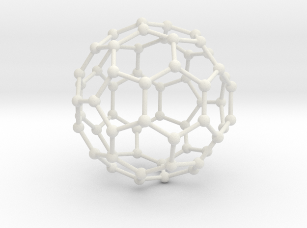 Buckyball in White Natural Versatile Plastic