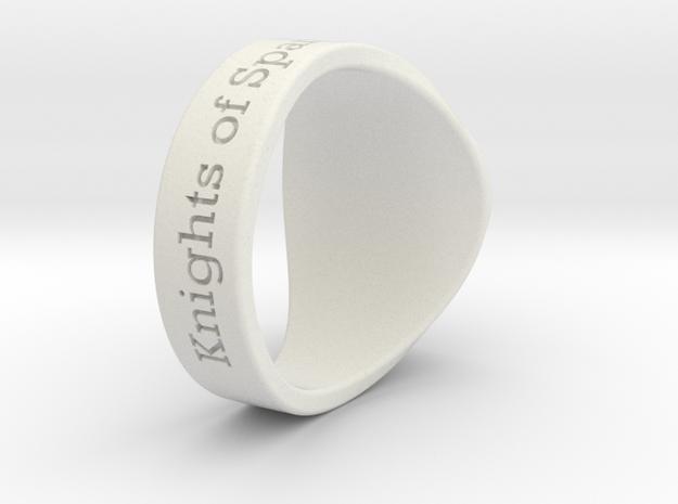 Auperball Tuned Ring Season 1 in White Natural Versatile Plastic