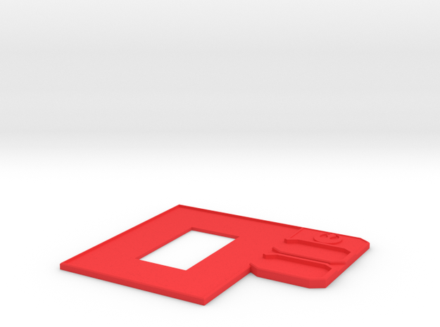 Rebel Fighter Control Panel in Red Processed Versatile Plastic