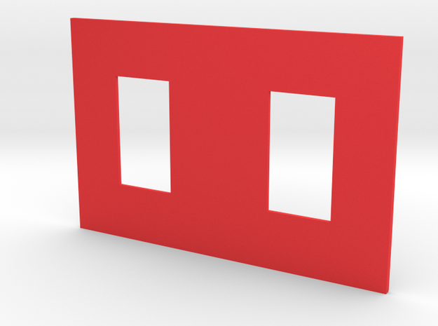 Fighter Panel 2 in Red Strong & Flexible Polished