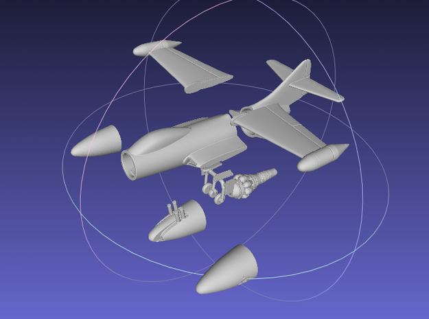 1/144 F9F Panther (Ultimate Edition) 3d printed
