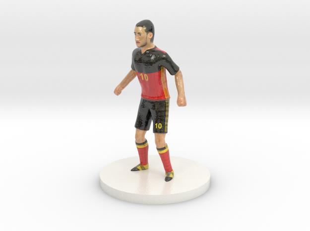 Belgian Football Player in Glossy Full Color Sandstone