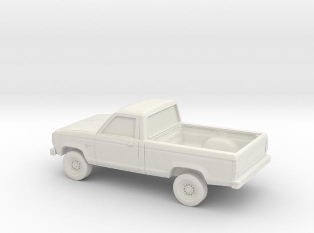 1/64 1983-88 Ford Ranger Reg Cab in White Natural Versatile Plastic