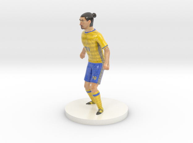 Swedish Football Player in Glossy Full Color Sandstone